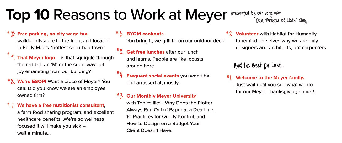 Top 10 Reasons to Work at Meyer